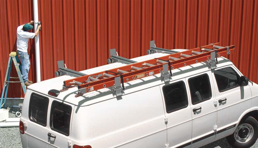 van ladder racks utility rig system one aluminum. Black Bedroom Furniture Sets. Home Design Ideas