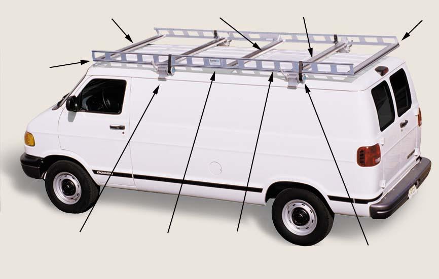 van ladder racks features system one aluminum ladder. Black Bedroom Furniture Sets. Home Design Ideas