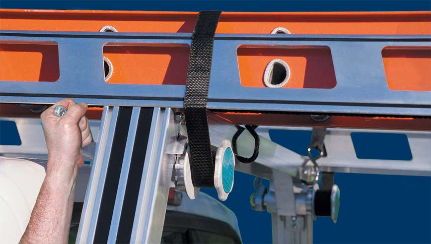 Work Winch on I.T.S. Series Ladder Rack / Truck Rack