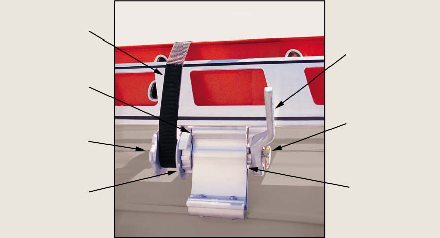 Work Winch Features - System One aluminum ladder racks