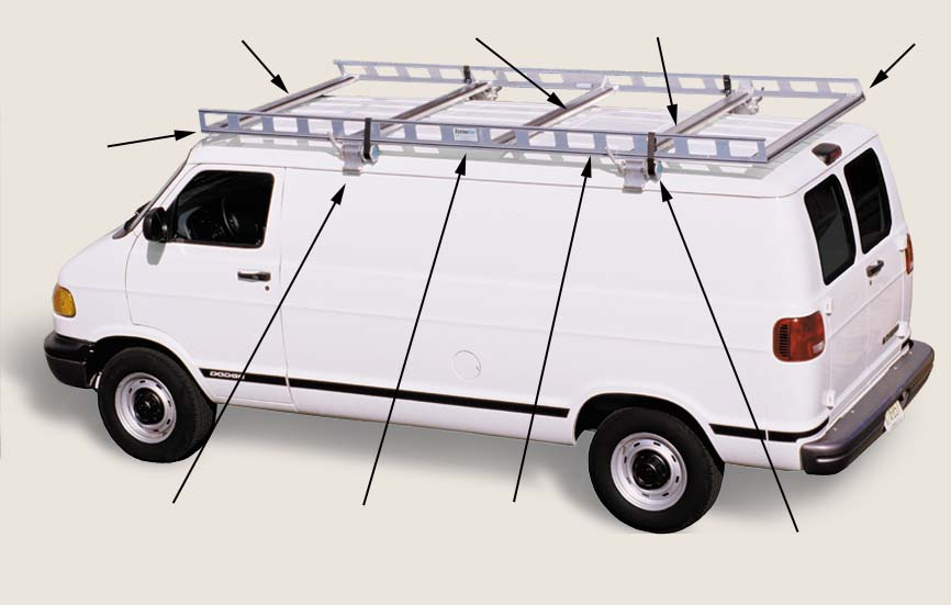 Van Ladder Racks Features System One Aluminum Ladder